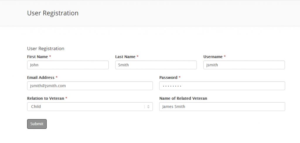 Registering a User